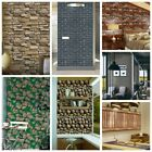3D Old-fogyish Brick Wall Paper Living Room Waterproof Wall Sticker Home Decor Decal