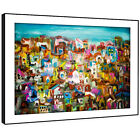 AB670 Retro Colourful Cool Modern Abstract Framed Wall Art Large Picture Prints