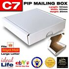 C7 Postage Boxes White Cardboard -Fits Large Letter- Small Quantities 1, 5 & 14!