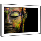 AB943 Black Green Buddha  Modern Abstract Framed Wall Art Large Picture Prints