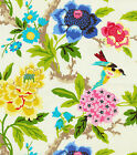 Uptown Fabric Waverly Upholstery Drapery Candid Moments Gardenia Floral Birds