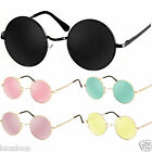 Round Vintage Retro Hippy Cyber Goggles Steampunk Mens Womens Sunglasses Vintage