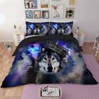 Wolf Quilt Duvet Doona Cover Set Queen/King/Single Size Pillow Cases Bedding Set