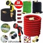 3X Stronger  25-100 FT Expandable Flexible Garden Water Hose w/ Nazzle OY