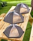 Set of 3 Food Tents Outdoor Cooking Food Covers Keep Insects Off Picnic BBQ