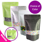 5x7.75in Multi-Color Thick Rice Paper Stand Up Zip lock Bag w/ Window M46