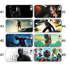 Black Panther Movie Hero IPhone X 5 SE 6 7 8 Plus Soft Clear Black Phone case