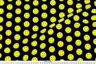 black smiley face - Smiley Black Happy Face  Fabric Printed by Spoonflower BTY