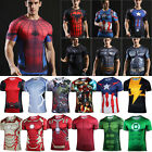 Mens Compression Short Sleeve T-Shirt Gym Sport Fitness Jersey Tops Tee T Shirts image