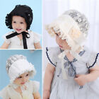 US Princess Baby Girls Lace Flower Hat Infant Kids Beanie Bonnet Hats Photo Prop