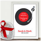Personalised 5th Fifth Wedding Anniversary Gifts Wedding First Dance Song Gifts