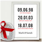 Personalised 10th Wedding Anniversary Gifts Tin Ten Years Memorable Dates Gifts