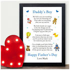 PERSONALISED Fathers Day Gifts from Son Little Boy Poem Gifts for Daddy Dad