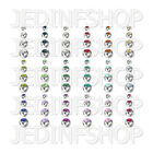 Spares Replacements - Gem Balls - 1.6mm (14g) - 3mm 4mm 5mm 6mm - 18 Colours