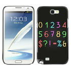Hard Phone Case Cover Skin For Samsung Neon Style Numbers