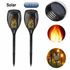 2 Pack 96 LED Waterproof Flickering Flame Solar Torch Light Outdoor Garden Lamp