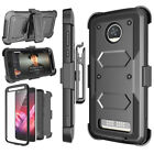 Motorola Moto Z2 Play/Z2 Force Clip Holster Case Cover Built-in Screen Protector