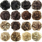 25Colors Curly Hair Bun Chignons Hairstyles Short Hair Pieces Rubber Band In