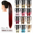 Straight Ombre Magic Synthetic Hair Ponytail Drawstring Ribbon Hairpiece
