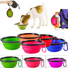 1pc Portable Pet Dog Silicone Food Water Feeder Dish Folding Travel Feeding Bowl