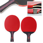 Carbon Fiber Table Tennis Racket Ping Pong Paddle Bat Long Short Handle With Bag for sale  Shipping to Canada