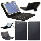 "For 7""-8"" Android Tablets Universal USB Micro Keyboard Folio PU Leather Case"