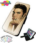 ELVIS PRESLEY HANDSOME PORTRAIT - Leather Flip Wallet Phone Case Cover