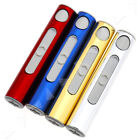 USB Electric Metal Flameless Torch Rechargeable Windproof Lighter Portable ES