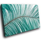 ZAB456 Green Leaf Flower Modern Canvas Abstract Home Wall Art Picture Prints