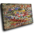 ZAB1555 Colouful Graffiti Modern Canvas Abstract Home Wall Art Picture Prints