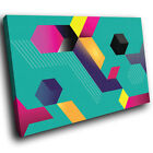 AB365 Colourful Cool Funky Modern Abstract Canvas Wall Art Large Picture Prints