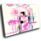 AB1684 Pink Blue Red Cool Modern Abstract Canvas Wall Art Large Picture Prints