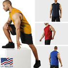 Внешний вид - Mens Tank Top Muscle Gym Sleeveless Plain T Shirts Tee S-3XL Cotton Casual Solid