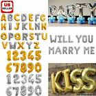 "42"" Foil Letter Balloons Number Balloon Wedding Alphabet Decoration Silver Gold"