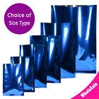 Many Sizes for Glossy Dark Blue Flat Heat-Sealable Foil Open Top Pouch Bag B09