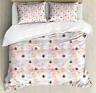 Pale Pink Duvet Cover Set Twin Queen King Sizes with Pillow Shams Bedding