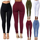 Women Pencil Skinny Slim Jeans Pants High Waist Stretch Casu