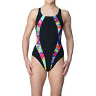 Maru Womens Reflect Pacer Panel Vault Back Swimsuit Black Sports Breathable