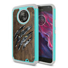 For Motorola Moto X4 / Moto X 4th Gen Kitten Design Rugged Hybrid Case Cover