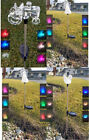 Solar Powered Garden Decor Stake Pathway  Lawn Yard LED Outdoor Landscape Light