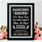 PERSONALISED Wedding Dancing Shoes Signs Flip Flop Tired Feet Wedding Reception