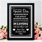 Personalised Wedding In Loving Memory Of Someone in Heaven Memorial Table Signs
