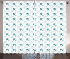 Flying Birds Curtains 2 Panel Set Decor 5 Sizes Available Window Drapes