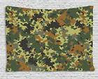 Camo Tapestry Wall Hanging Art Bedroom Dorm 2 Sizes Available Ambesonne