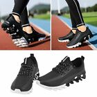 Mens Lightweight Breathable Running Tennis Sneakers Casual Walking Shoes Black