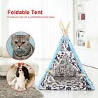 Pet Teepee Kennel Tent Cat Dog House Bed Puppy Kittens Playing House Nest AM