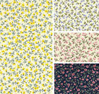 Cotton Fabric / Material - Delicate Roses Floral - 0034