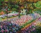 The Artist's Garden at Giverny by Monet (classic French Impressionist art print)