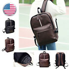 Women Men Leather Backpack Shoulder School Book Travel Handbag Rucksack Bag B08