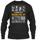 Born In Rochester Ny Customizable City - Multi Gildan Long Sleeve Tee T-Shirt
